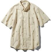 S/S Him Route Shirt NR21956 (VW)ビンテージホワイト Lサイズ [アウトドア シャツ メンズ]