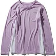 L/S GTD Melange Crew NTW61881 OB_オーキッド Mサイズ [ランニングシャツ レディース]