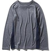 L/S GTD Melange Crew NTW61881 (UN)アーバンネイビー Sサイズ [ランニングシャツ レディース]