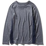 L/S GTD Melange Crew NTW61881 (UN)アーバンネイビー Mサイズ [ランニングシャツ レディース]