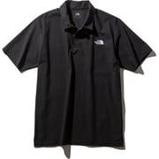 S/S ACTIVE POLO SH NT21990 (K)ブラック Lサイズ [アウトドア ポロシャツ メンズ]