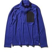 L/S Superhike Zip Up NT11801 AB_アズテックブルー Lサイズ [アウトドア カットソー メンズ]