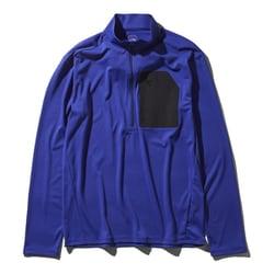 L/S Superhike Zip Up NT11801 (AB)アズテックブルー Mサイズ [アウトドア カットソー メンズ]