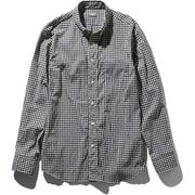 L/S Hidden Valley Shirt NR11966 (BG)ブラックギンガム Mサイズ [アウトドア シャツ メンズ]