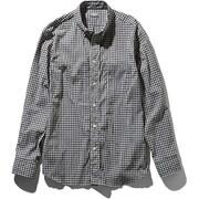 L/S Hidden Valley Shirt NR11966 (BG)ブラックギンガム Sサイズ [アウトドア シャツ メンズ]
