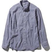 L/S Hidden Valley Shirt NR11966 (NG)ネイビーギンガム Sサイズ [アウトドア シャツ メンズ]