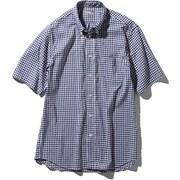 S/S Hidden Valley Shirt NR21967 (NG)ネイビーギンガム Mサイズ [アウトドア シャツ メンズ]