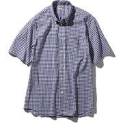 S/S Hidden Valley Shirt NR21967 NG_ネイビーギンガム Lサイズ [アウトドア シャツ メンズ]