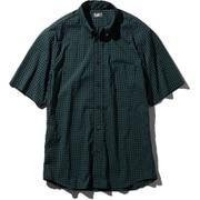 S/S Hidden Valley Shirt NR21967 (NR)ネイビーグリーンギンガム Mサイズ [アウトドア シャツ メンズ]