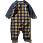 Baby Fleece Rompers NAB71966 BK 70サイズ [アウトドア ウェア ベビー]
