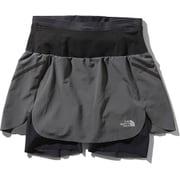 フライウェイトレーシングスカート Flyweight Racing Skirt NBW41978 (AG)アスファルトグレー Sサイズ [ランニングパンツ レディース]