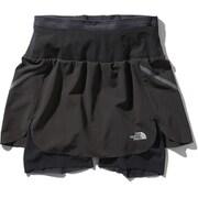 フライウェイトレーシングスカート Flyweight Racing Skirt NBW41978 (KK)ブラック2 Lサイズ [ランニングパンツ レディース]