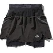 フライウェイトレーシングスカート Flyweight Racing Skirt NBW41978 (KK)ブラック2 Mサイズ [ランニングパンツ レディース]