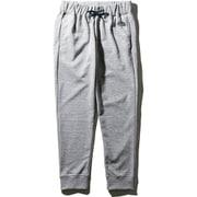 カラーヘザードスウェットロングパンツ Color Heathered Sweat Long pants NB81696 (GU)グレーヘザー×ネイビーロゴ Lサイズ [アウトドア スウェットパンツ メンズ]