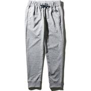 カラーヘザードスウェットロングパンツ Color Heathered Sweat Long pants NB81696 (GU)グレーヘザー×ネイビーロゴ Mサイズ [アウトドア スウェットパンツ メンズ]