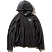 Micro Fleece Hoodie NLW71931 (K)ブラック Mサイズ [アウトドア パーカー レディース]