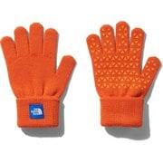 Kids Knit Glove NNJ61907 PG KFサイズ [アウトドア グローブ キッズ]