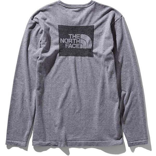 ロングスリーブスクエアロゴジャカードティー L/S Square Logo Jacquard Tee NT81907 (Z)ミックスグレー Lサイズ [アウトドア カットソー メンズ]