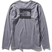L/S Square Logo Jacquard Tee NT81907 (Z)ミックスグレー Mサイズ [アウトドア カットソー メンズ]