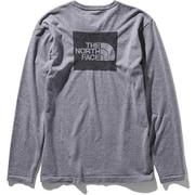ロングスリーブスクエアロゴジャカードティー L/S Square Logo Jacquard Tee NT81907 (Z)ミックスグレー XLサイズ [アウトドア カットソー メンズ]