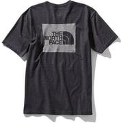 ショートスリーブスクエアロゴジャカードティー S/S Square Logo Jacquard Tee NT81908 (K)ブラック Lサイズ [アウトドア カットソー メンズ]