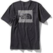 ショートスリーブスクエアロゴジャカードティー S/S Square Logo Jacquard Tee NT81908 (K)ブラック Mサイズ [アウトドア カットソー メンズ]