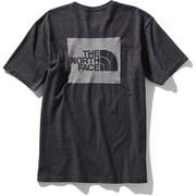 ショートスリーブスクエアロゴジャカードティー S/S Square Logo Jacquard Tee NT81908 (K)ブラック XLサイズ [アウトドア カットソー メンズ]