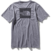 ショートスリーブスクエアロゴジャカードティー S/S Square Logo Jacquard Tee NT81908 (Z)グレー Lサイズ [アウトドア カットソー メンズ]