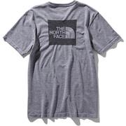 ショートスリーブスクエアロゴジャカードティー S/S Square Logo Jacquard Tee NT81908 (Z)グレー Mサイズ [アウトドア カットソー メンズ]