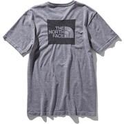 ショートスリーブスクエアロゴジャカードティー S/S Square Logo Jacquard Tee NT81908 (Z)グレー XLサイズ [アウトドア カットソー メンズ]