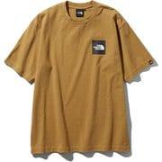 S/S Square Logo Tee NT81930 (BK)ブリティッシュカーキ Lサイズ [アウトドア カットソー メンズ]