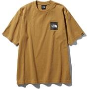 S/S Square Logo Tee NT81930 (BK)ブリティッシュカーキ XLサイズ [アウトドア カットソー メンズ]