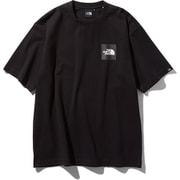 S/S Square Logo Tee NT81930 ブラック Mサイズ [アウトドア カットソー 男性用]