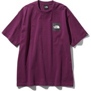 S/S Square Logo Tee NT81930 パンプロナパープル Lサイズ [アウトドア カットソー 男性用]