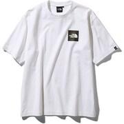 S/S Square Logo Tee NT81930 (W)ホワイト Mサイズ [アウトドア カットソー メンズ]