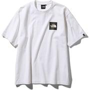 S/S Square Logo Tee NT81930 (W)ホワイト XLサイズ [アウトドア カットソー メンズ]