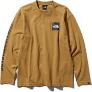 L/S Square Logo Tee NT81931 (BK)ブリティッシュカーキ Sサイズ [アウトドア カットソー メンズ]