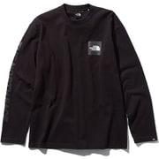 L/S SQUARE LOGO T NT81931 ブラック Sサイズ [アウトドア カットソー 男性用]