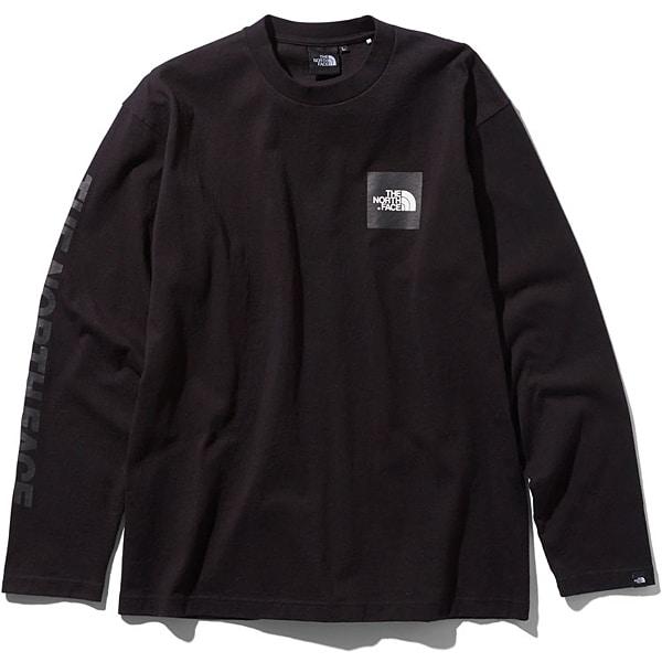 L/S Square Logo Tee NT81931 (K)ブラック XXLサイズ [アウトドア カットソー メンズ]