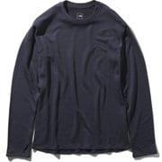 L/S Climate Wool Crew NT61871 (UN)アーバンネイビー XLサイズ [アウトドア カットソー メンズ]