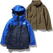 スノートリクライメイトジャケット Snow Triclimate Jacket NSJ61901 (BU)TNFブルー×アーバンネイビー 120cm [スキーウェア キッズ]