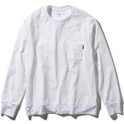 ロングスリーブエアリーリラックスティー L/S Airy Relax Tee NT11967 (W)ホワイト XLサイズ [アウトドア カットソー メンズ]