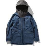 FL A-CAD JACKET NS51916 (BW)ブルーウィングティール×ウェザードブラック Lサイズ [スキーウェア ジャケット メンズ]
