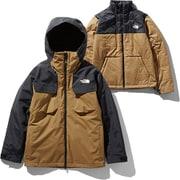 フォーバレルトリクライメイトジャケット Fourbarrel Triclimate Jacket NS61904 (BK)ブリティッシュカーキ XXLサイズ [スキーウェア ジャケット メンズ]