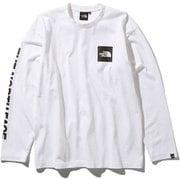 S/S Square Logo Tee NT81931 (W)ホワイト Lサイズ [アウトドア カットソー メンズ]
