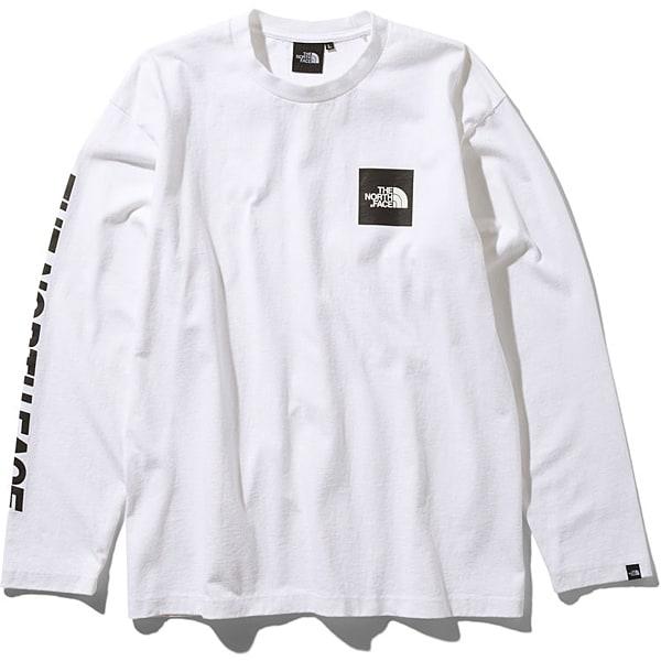 S/S Square Logo Tee NT81931 (W)ホワイト Sサイズ [アウトドア カットソー メンズ]