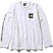 S/S Square Logo Tee NT81931 (W)ホワイト XXLサイズ [アウトドア カットソー メンズ]