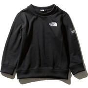 スクエアロゴクルー Square Logo Crew NTJ61922 (K)ブラック 110cm [アウトドア トップス キッズ]