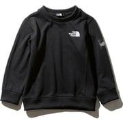スクエアロゴクルー Square Logo Crew NTJ61922 (K)ブラック 150cm [アウトドア トップス キッズ]