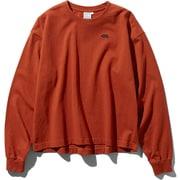 L/S Nuptse Cotton Tee NTW81934 (PI)ピカンテレッド Sサイズ [アウトドア カットソー レディース]